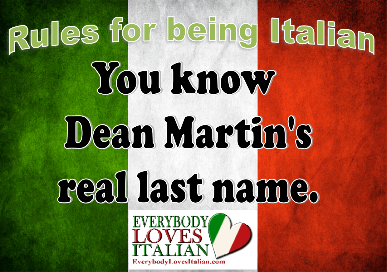Italian Last Names And Meanings: Rules For Being Italian